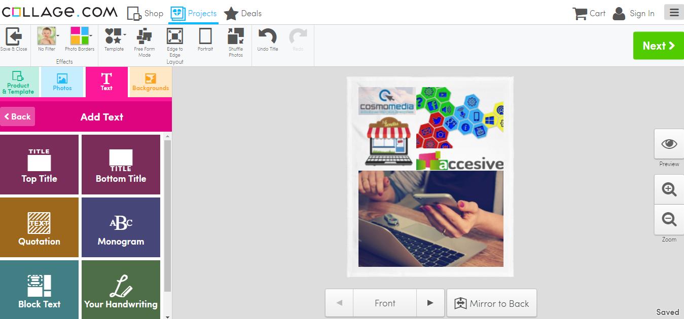 Herramienta gratis para crear collage de imágenes