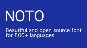 Google NOTO Tipografía