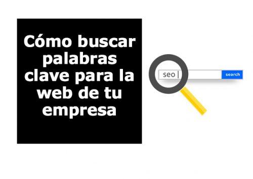 Buscar palabras clave web pyme