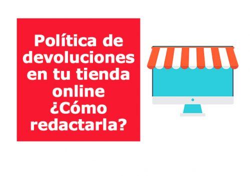 Ejemplo de política de devoluciones para tienda online