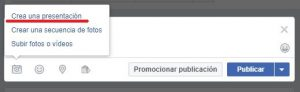 Cómo crear presentación en Facebook