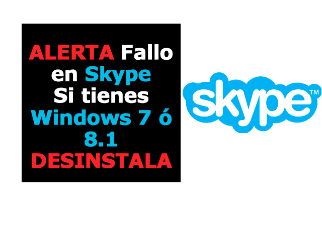 Alerta Skype Windows 7 y 8.1