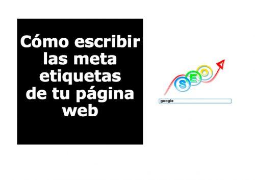 Cómo escribir las meta etiquetas de tu página web