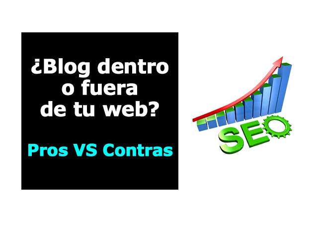 Blog dentro o fuera de la web