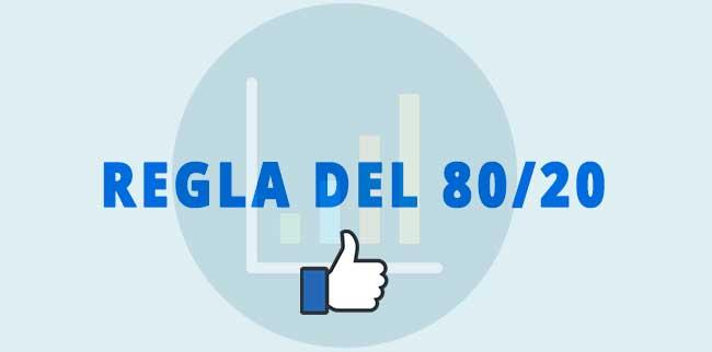 Regla del Pareto 80/20 Facebook