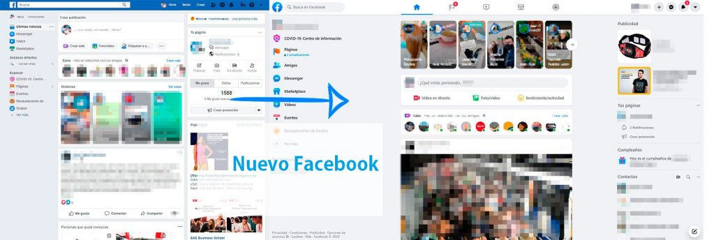 Facebook old - New Facebook