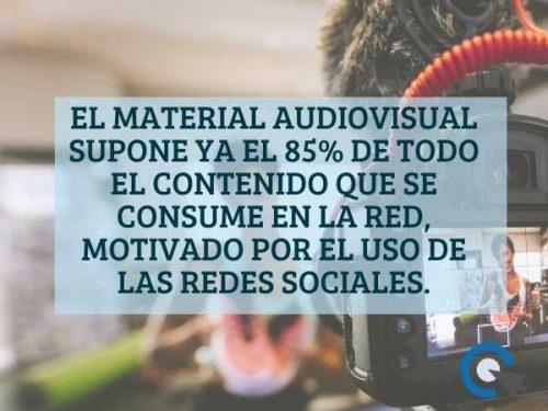 Material audiovisual en redes sociales