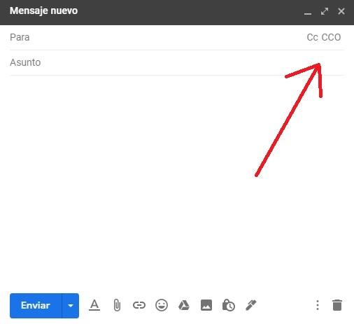 Enviar correo con copia oculta en Gmail