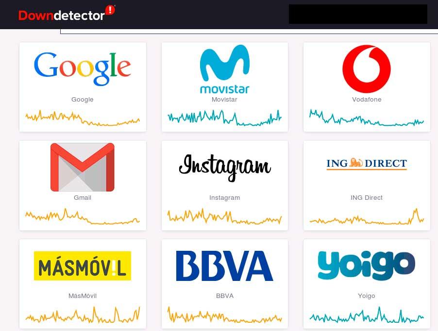 En https://downdetector.es/ puedes consultar de un sólo vistazo los cortes de servicio de las principales plataformas y servicios digitales.
