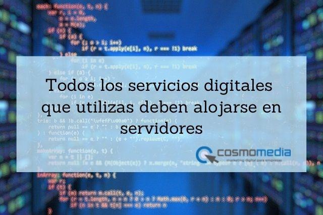 Servidores y servicios digitales empresas