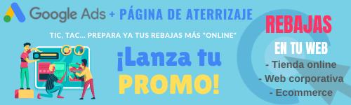 promoción rebajas web