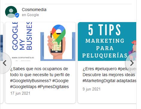 Publicaciones de Google My Business