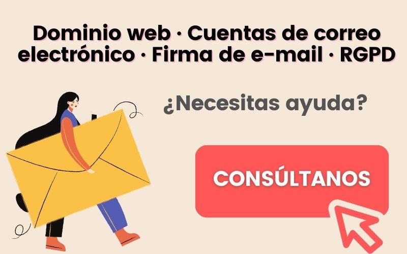 Proveedor de correo electrónico para empresas. Alojamiento + soporte técnico + firmas