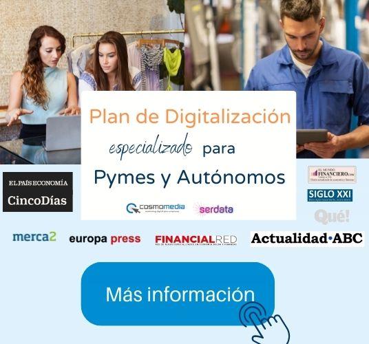 Ayuda digitalización Pymes y Autónomos