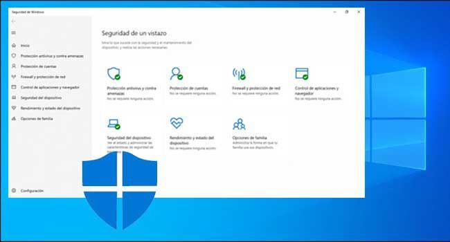 Microsoft Windows Defender opciones